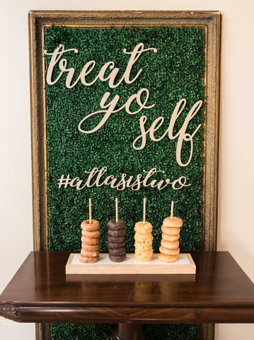 Treat Yo Self Wedding Sign/ Hashtag Sign - Wedding Decor Gifts