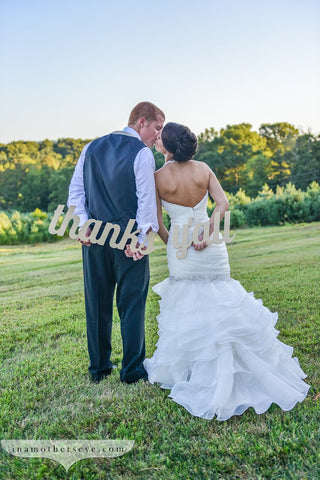 """Thanks Y'all"" Sign - Wedding Decor Gifts"