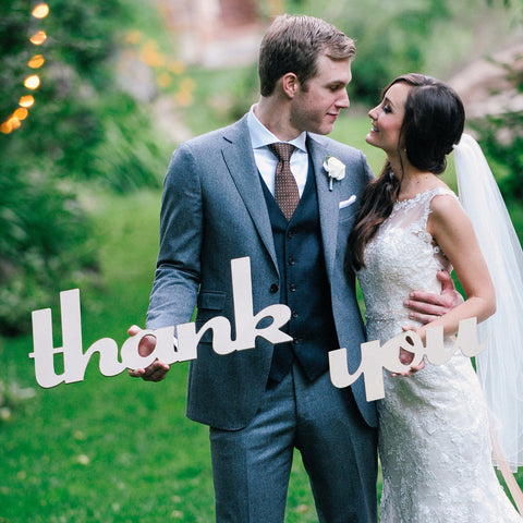Thank You Sign Wedding Photo Prop