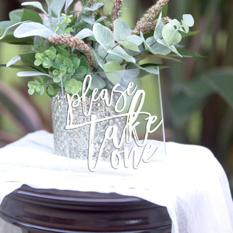 Clear Wedding Sign for Favor Table - Wedding Decor Gifts