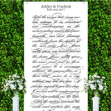 Wedding Verse Backdrop - Wedding Decor Gifts