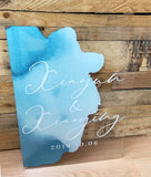 Watercolor Wedding Welcome Sign - Wedding Decor Gifts