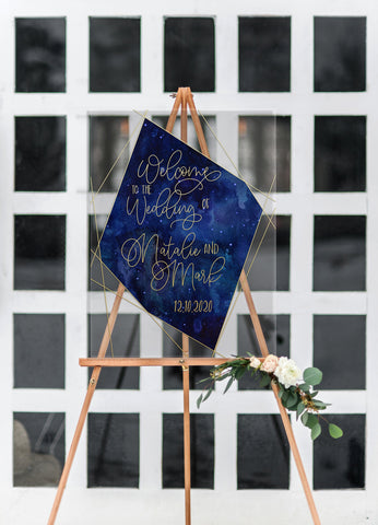 Cosmic Celestial Wedding Welcome Sign - Wedding Decor Gifts