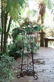 Clear Simple Welcome Sign - Wedding Decor Gifts