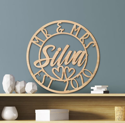 Wooden Family Name Sign Personalized Wooden Sign, Custom Name Sign