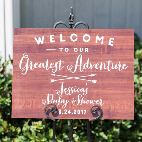 Boho Baby Shower Welcome Sign - Wedding Decor Gifts