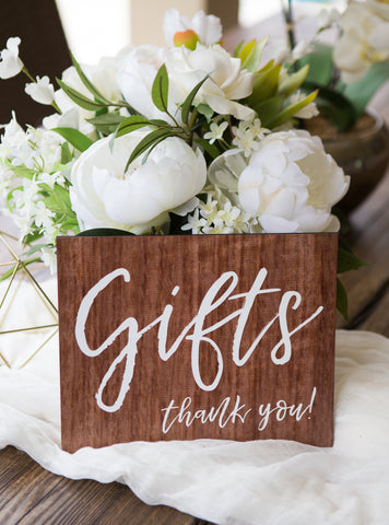 Gift Table Wedding Sign - Wedding Decor Gifts