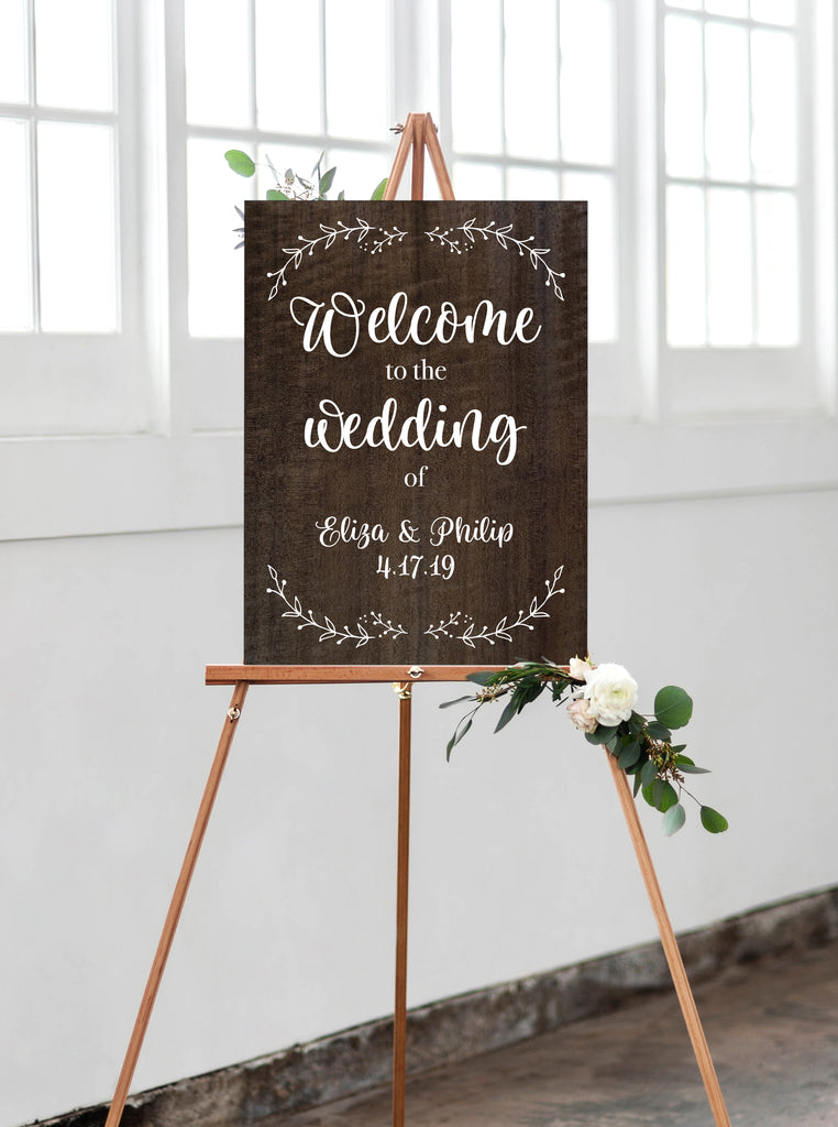 Wooden Wedding Welcome Sign - Wedding Decor Gifts