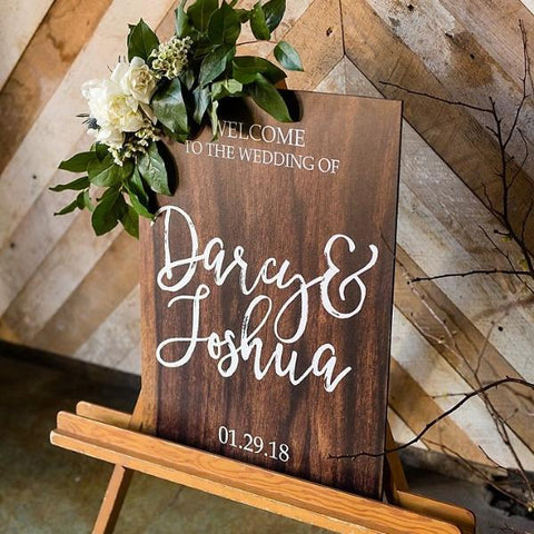 Personalized Calligraphy Wedding Welcome Sign