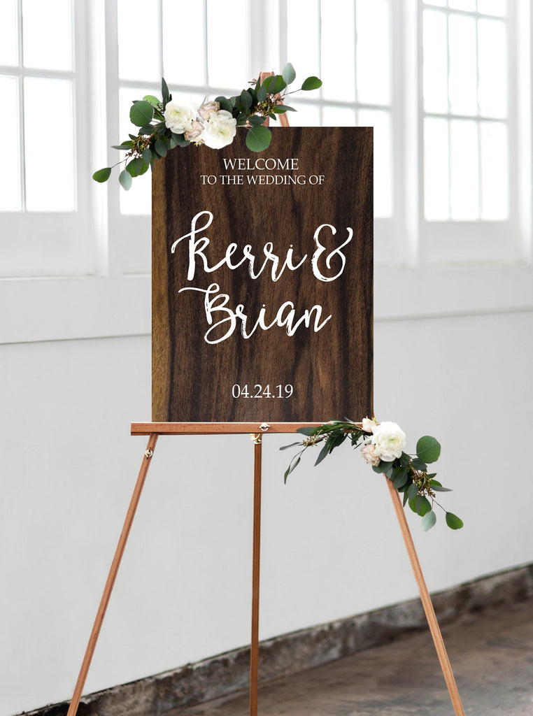 Personalized Calligraphy Wedding Welcome Sign Z Create