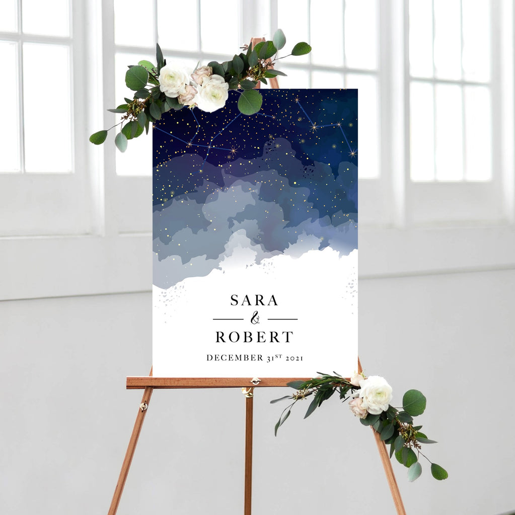 Constellation Wedding Welcome Sign - Wedding Decor Gifts