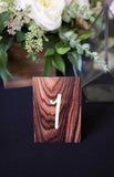 Wood Grain Look Wedding Table Numbers - Wedding Decor Gifts