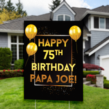 Birthday Yard Sign, Gold Birthday Yard Sign, Personalized Custo Yard Sign