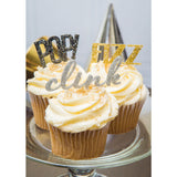 "New Years Cupcake Toppers ""POP! Fizz Clink"""