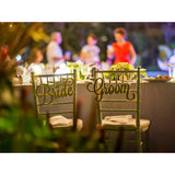 Bride & Groom Wedding Chair Signs - Wedding Decor Gifts