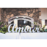 Amore or Amour Table Sign - Wedding Decor Gifts