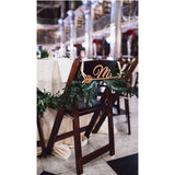 Mr and Mrs Arrow Chair Signs - Wedding Decor Gifts