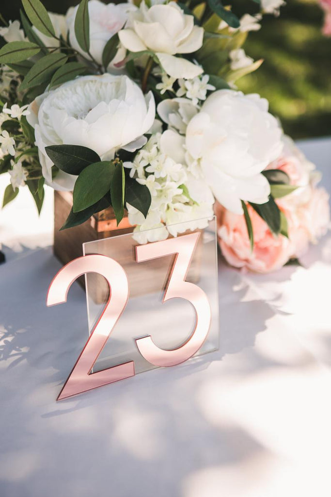 NEW Mirror Table Numbers - Wedding Decor Gifts