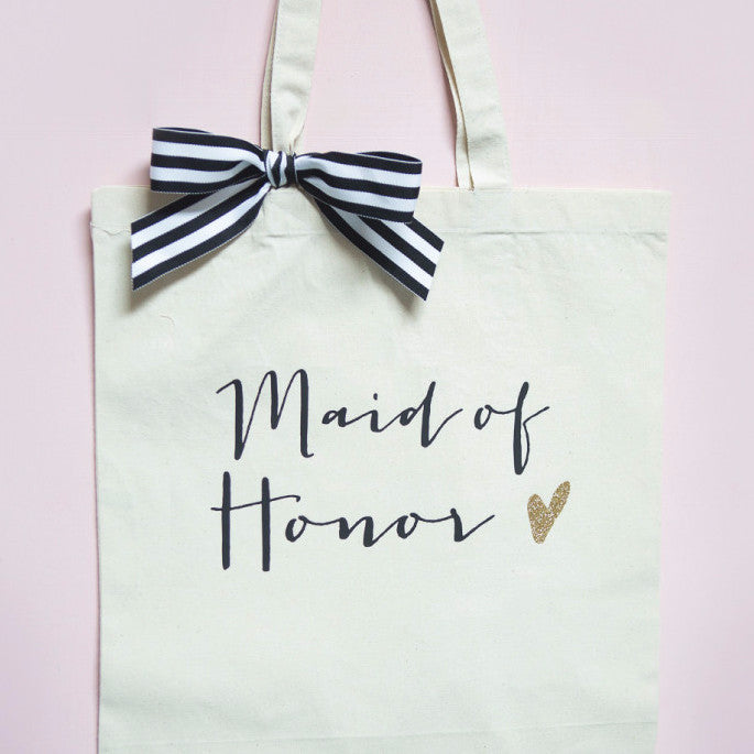 Glam Maid of Honor Wedding Tote Bag - Wedding Decor Gifts