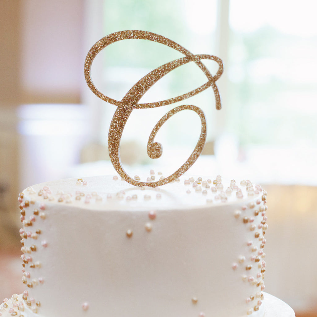 Monogram Cake Topper - Wedding Decor Gifts