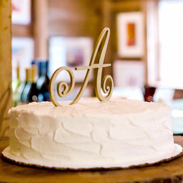 Monogram Letter Topper - Wedding Decor Gifts