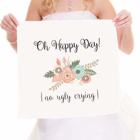 No Ugly Crying Bridal Handkercheif - Wedding Decor Gifts