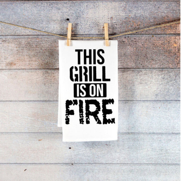 Funny Towel for Grill Christmas Decor - Wedding Decor Gifts