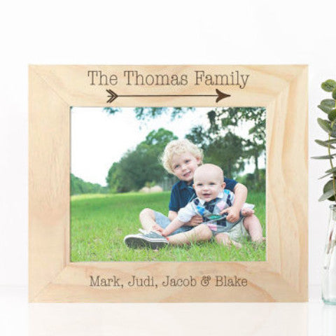 Wooden Frame Gift Family Names - Wedding Decor Gifts
