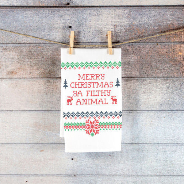 Kitchen Towel Christmas Holiday Sweater Style