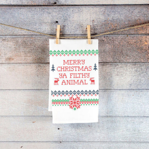 Kitchen Towel Christmas Holiday Sweater Style - Wedding Decor Gifts