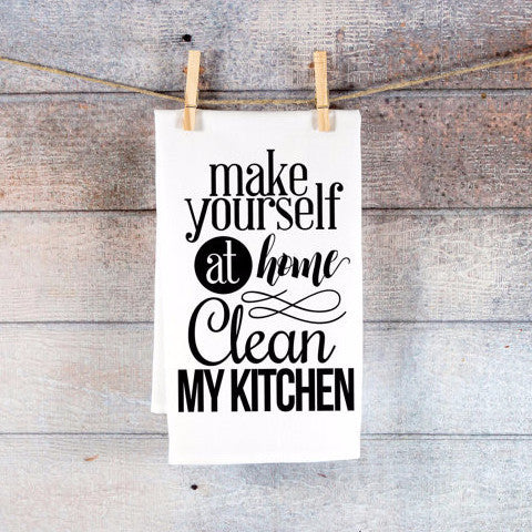 "Cute Kitchen Tea Towel, ""Clean My Kitchen"" - Wedding Decor Gifts"