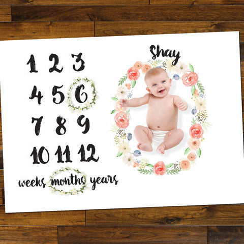 Baby Milestone Floor Mat - Wedding Decor Gifts