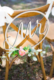 Wedding Chair Signs Hoop Style - Wedding Decor Gifts