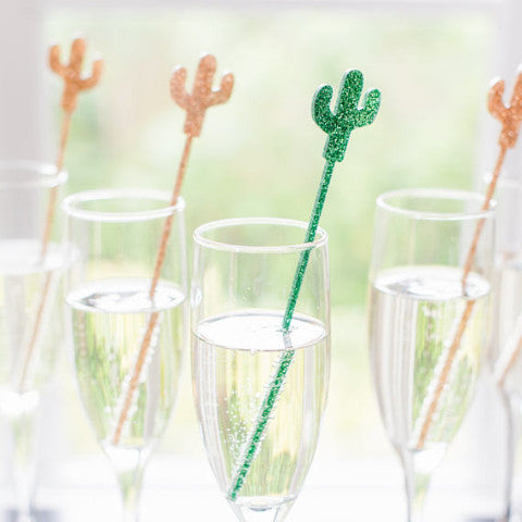 Cactus Party Stir Sticks