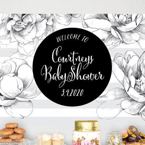 Baby Shower Backdrop Sign