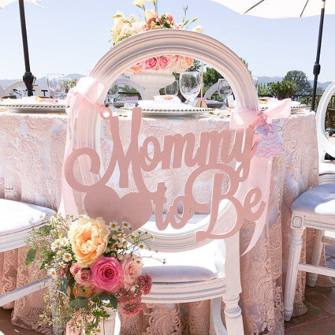 "Baby Shower Chair Sign ""Mommy to Be"" - Wedding Decor Gifts"