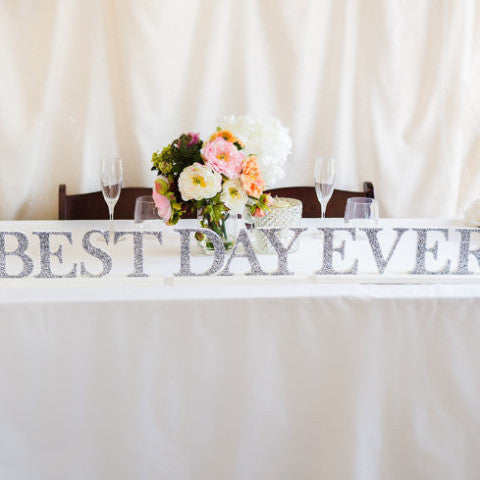 Best Day Ever Table Sign - Wedding Decor Gifts