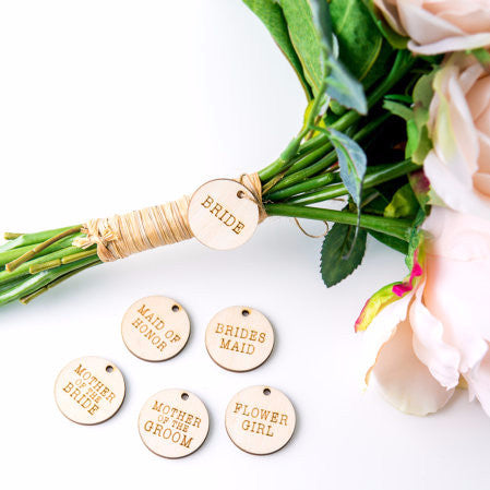 "Bridal Bouquet ""Bride"" Charm Tag - Wedding Decor Gifts"