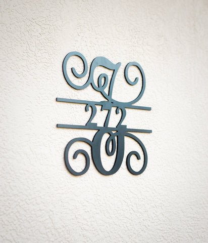 House Numbers Monogram Address Sign - Wedding Decor Gifts