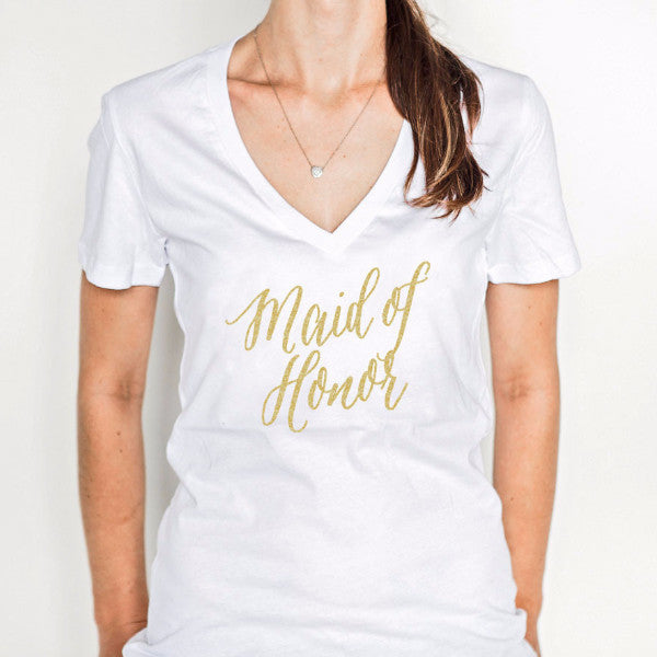 Maid of Honor Shirt for Wedding Bridal Party Gift - Wedding Decor Gifts