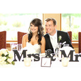 Mr and Mrs Block Table Signs for Wedding - Wedding Decor Gifts