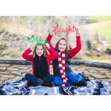 """Naughty"" & ""Nice"" Christmas Sign Photo Props - Wedding Decor Gifts"