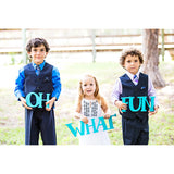 Oh What Fun Holiday Photo Prop Sign - Wedding Decor Gifts