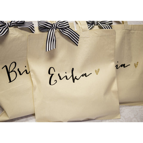 Personalized Glam Tote Bags for the Trendy Bridal Party - Wedding ... cc821bbc1c