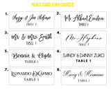Clear Hexagon Place Cards - Wedding Decor Gifts