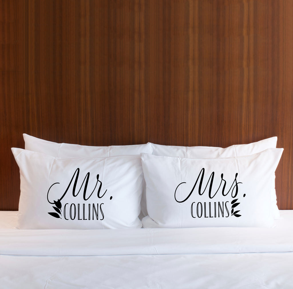 Personalized Boho Pillowcases - Wedding Decor Gifts