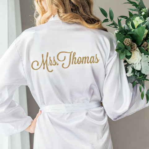 Wedding Robe for Bride and Bridesmaids - Wedding Decor Gifts