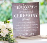 Unplugged Ceremony Sign - Wedding Decor Gifts