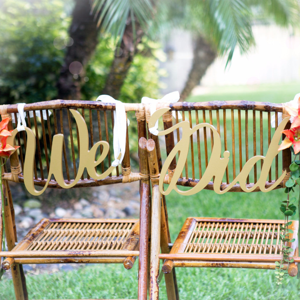 "Wedding Chair Signs ""We Did"" - Wedding Decor Gifts"