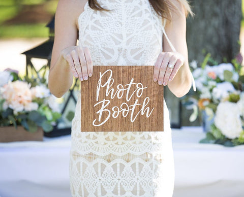 Photo Booth Wedding Sign - Wedding Decor Gifts